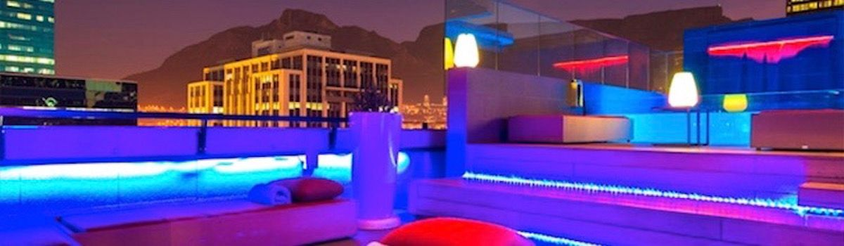 Haralds Bar Terrace Cape Town villa rental la Baia Camps Bay
