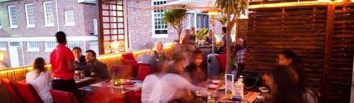 Ricks cafe Americain rooftop bar Camps Bay villa rental la Baia Camps Bay
