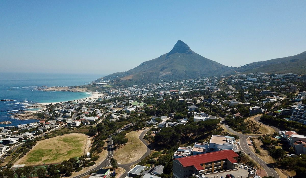 View from la Baia Camps Bay Cape Town